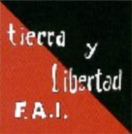 """Banderola de la Columna """"Tierra y Libertad"""""""