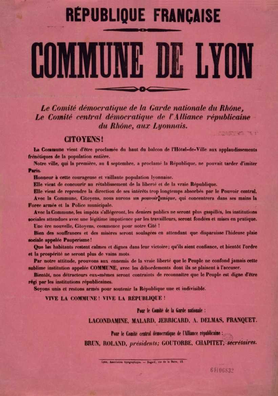 Proclama de la II Comuna de Lió (23 de març de 1871)