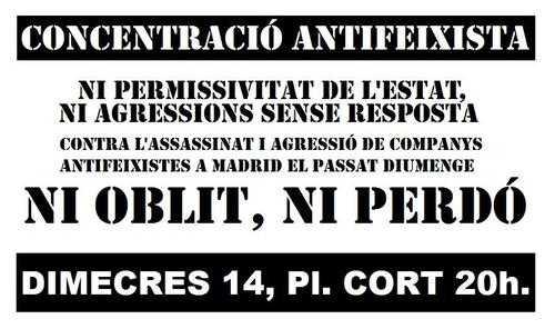 Concentració antifeixista