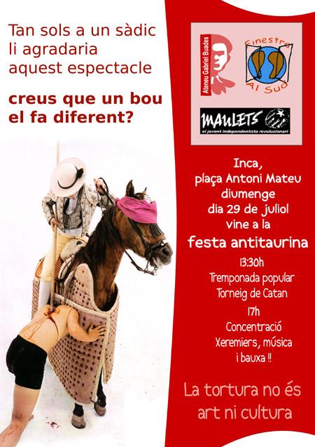 Jornada antitaurina a Inca (29-07-07)