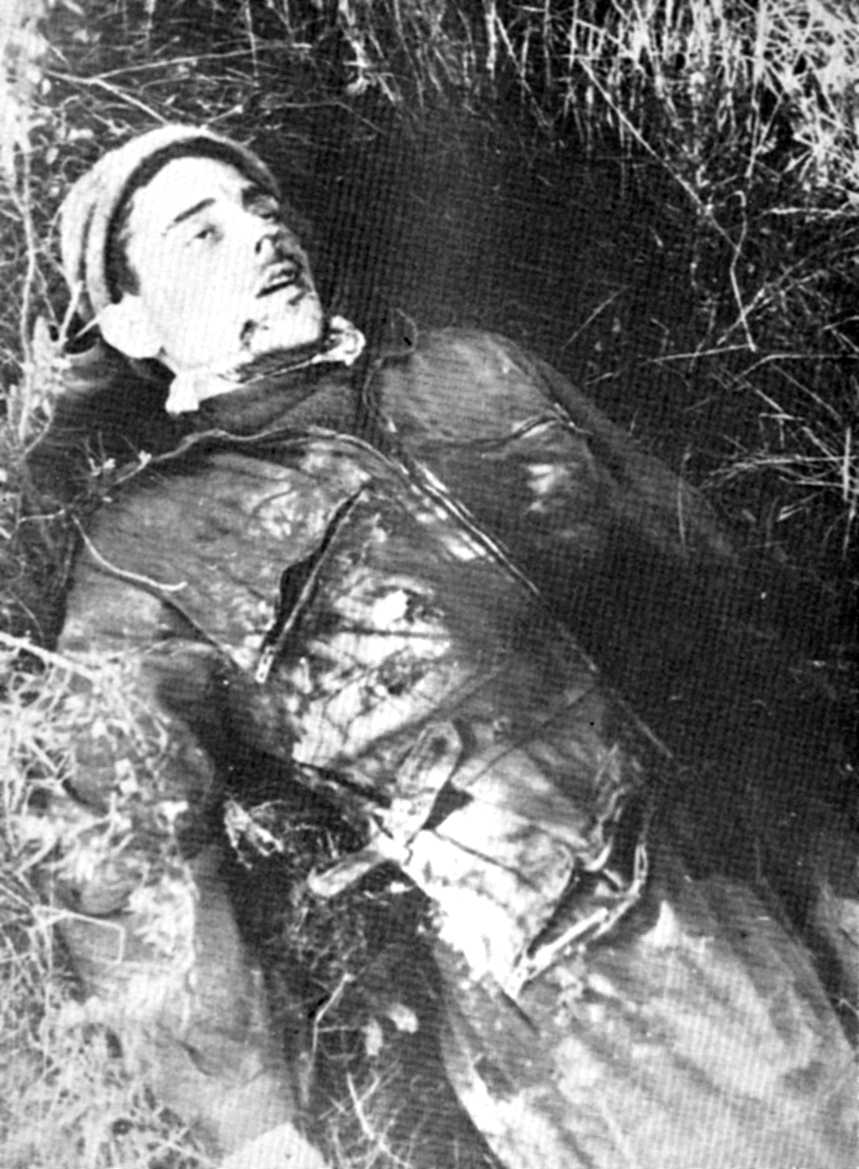 Francisco Conesa Alcaraz mort al Mas Clarà, l'única foto coneguda d'ell