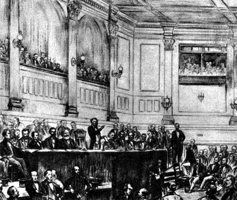 Conferència inaugural de l'AIT a Saint Martin's Hall (Londres)