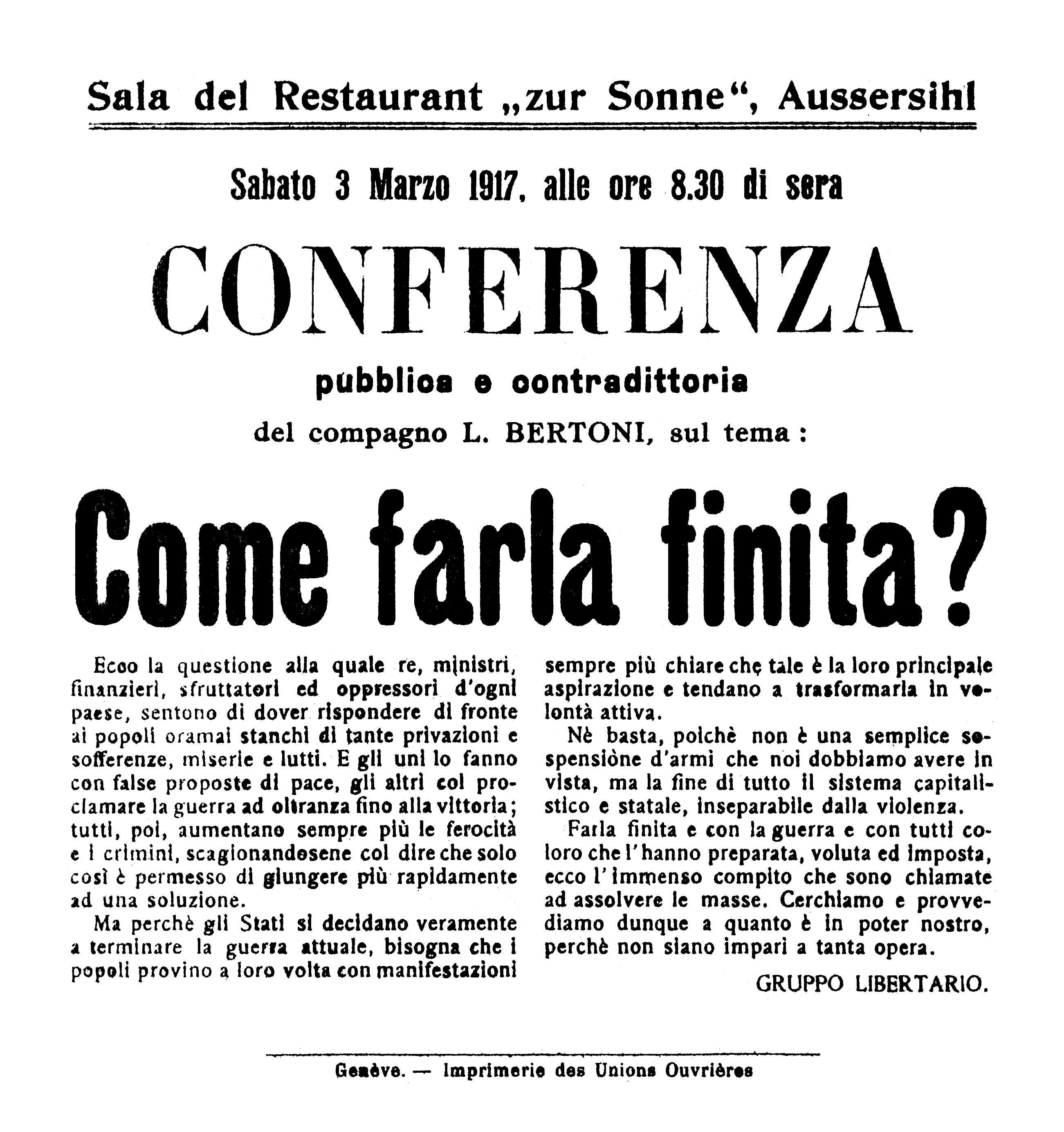 Octaveta anunciant la conferència