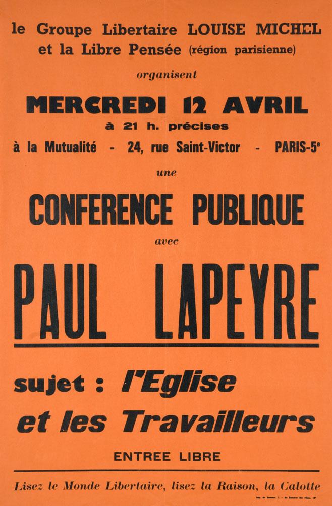 Cartel de una conferencia de Lapeyre [placard.ficedl.info]