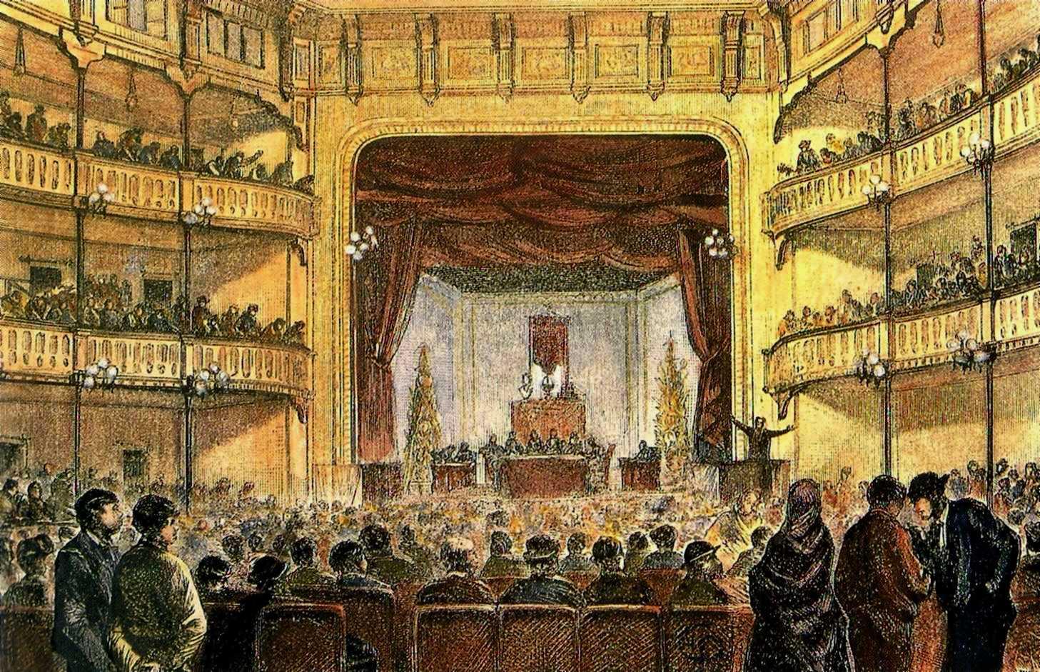 Congrés de Barcelona de 1870 al Teatre Circ Barceloní