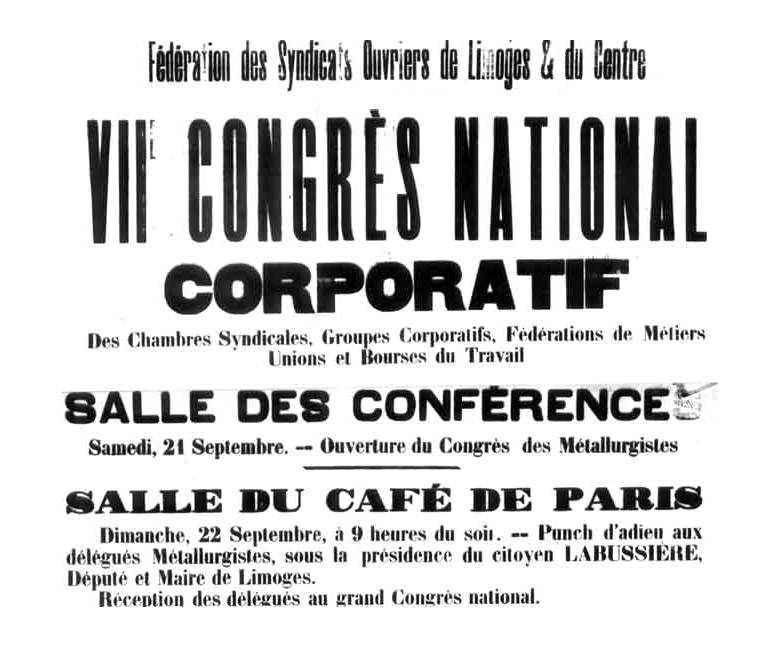 Anunci del Congrés de Llemotges de 1895