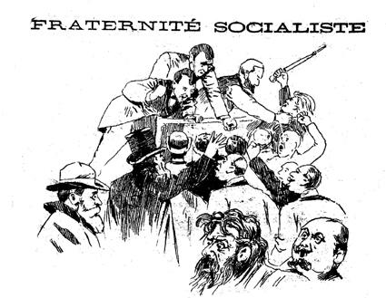 """La sessió de la delegació francesa consagrada a l'admissió dels anarquistes vista pel periòdic """"Le Petit Belge"""" del 30 de juliol de 1896"""