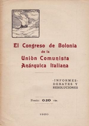 Portada de l'edició castellana, publicada a Buenos Aires (Argentina), de les resolucions del Congrés de Bolonya