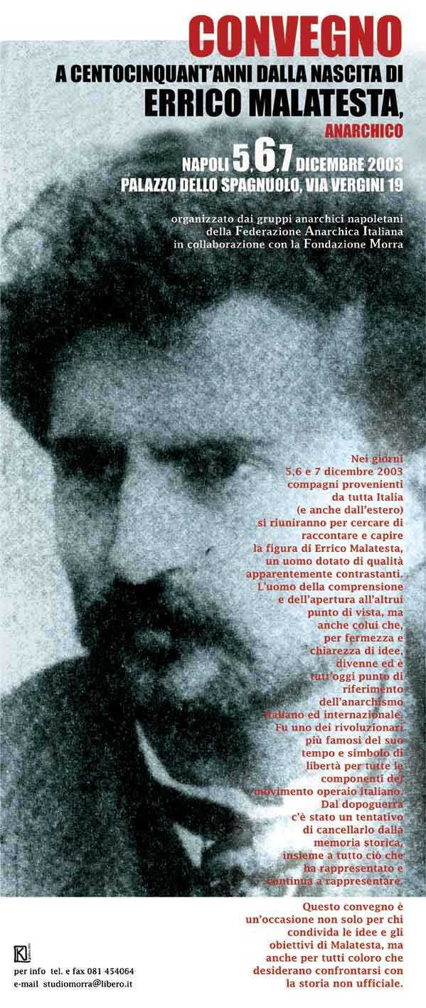 Malatesta poster; source www.anarca-bolo.ch/a-rivista