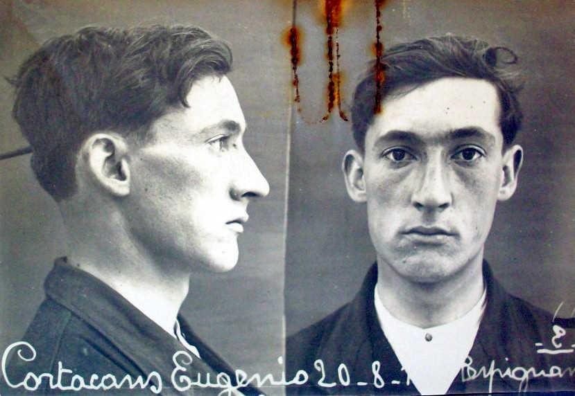 Foto antropomètrica d'Eugeni Cortacans Carbonell (20 d'agost de 1917)