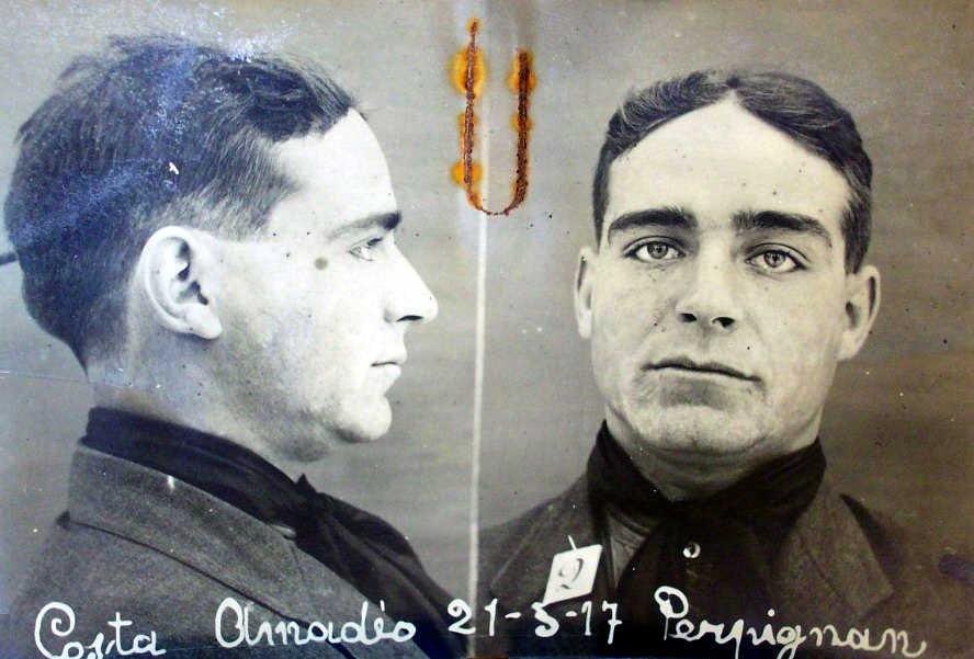 Foto antropomètrica d'Amadeu Costa Carrera (1917)
