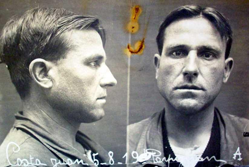 Foto policíaca de Joan Costa Fabré (5 d'agost de 1919)