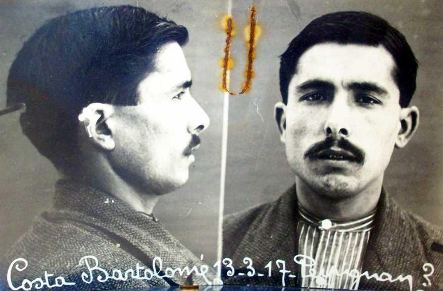 Foto antropomètrica de Bartomeu Costa Torrent (13 de març de 1917)
