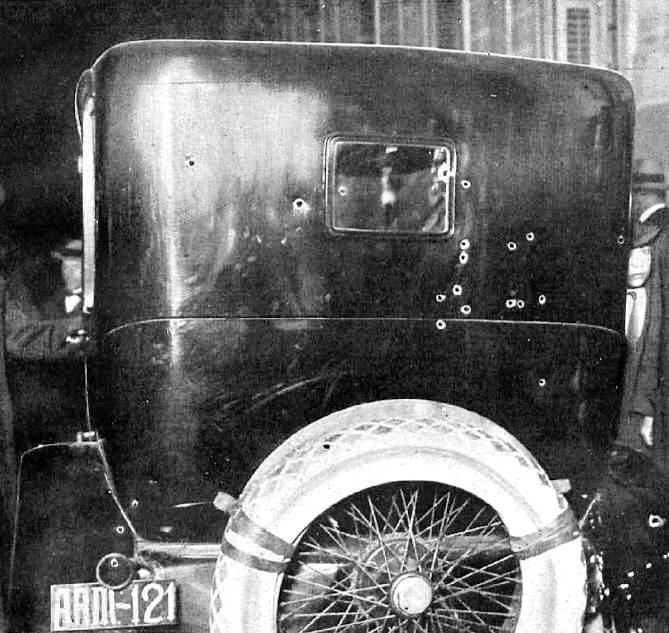 L'automòbil d'Eduardo Dato després de l'atemptat