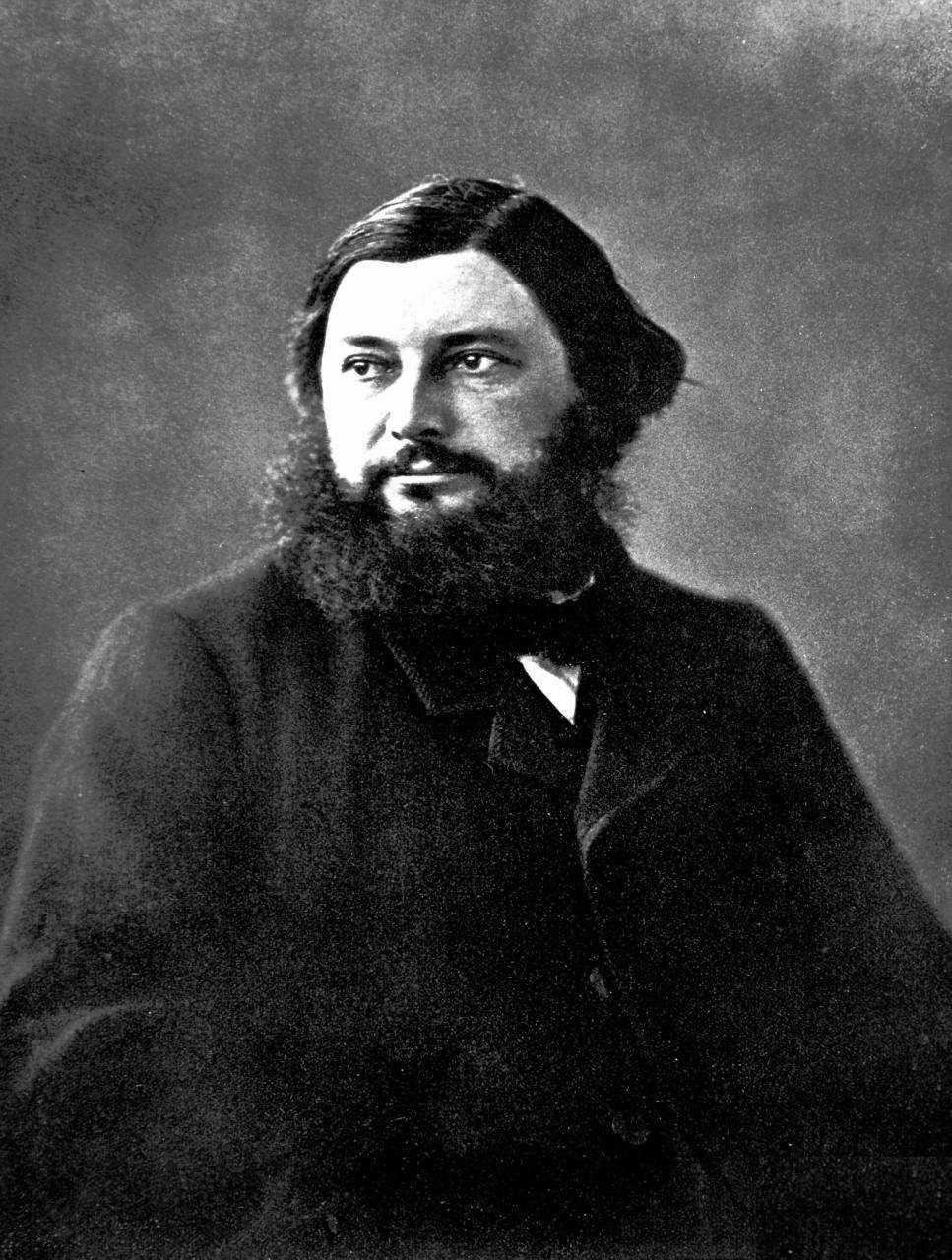 Gustave Courbet fotografiado por Nadar 1855