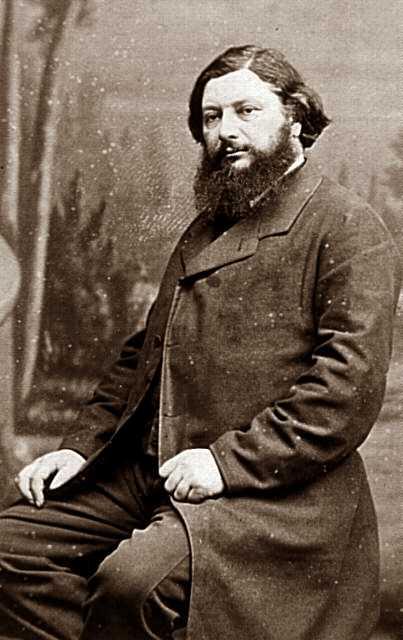 Gustave Courbet fotografiado por Nadar en 1871