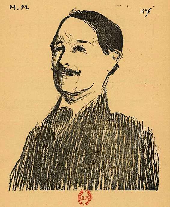 Édouard Couturier dibuixat per Marc Mouclier (1896)