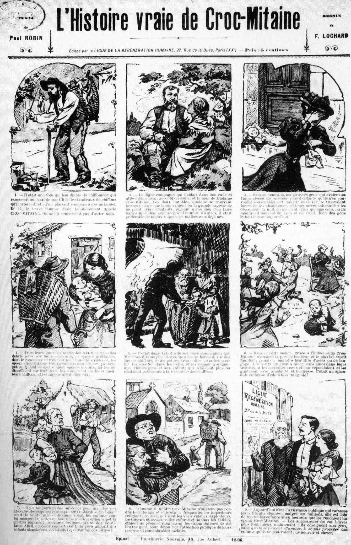 """Història il·lustrada de Robin i de Lochard, segons les idees de """"L'Éducation Libertaire"""""""
