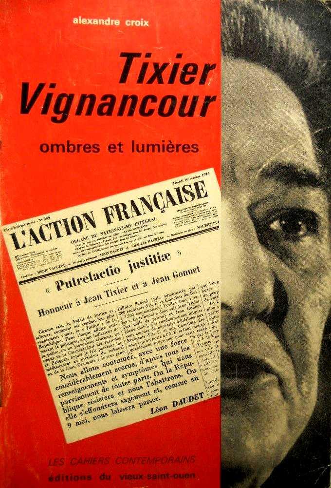 """Portada del llibre d'Alexandre Croix """"Tixier-Vignancour. Ombres et lumières"""" (1965)"""