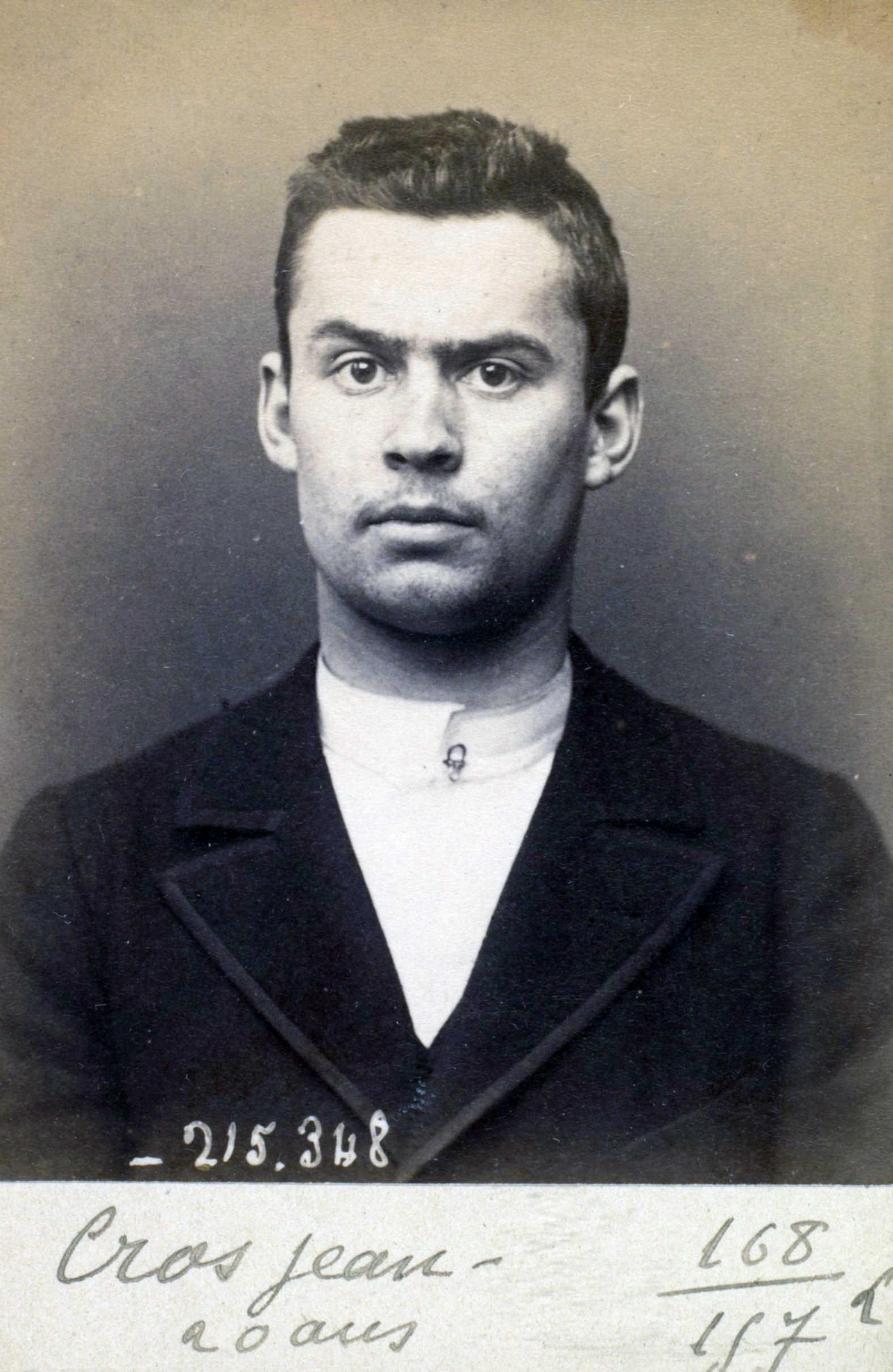 Foto policíaca de Jean Cros (8 de març de 1894)