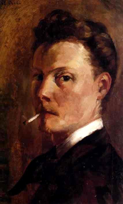 Autorretrat d'Henri-Edmond Cross amb cigarreta (1880)