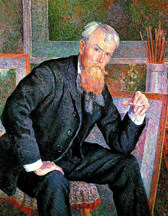 Henri-Edmond Cross retratat pel pintor anarquista Maximilien Luce (1898)