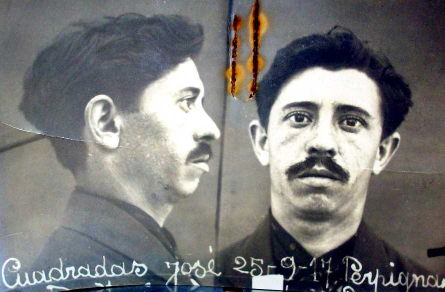 Foto antropomètrica de Josep Cuadradas Pol (25 de setembre de 1917)