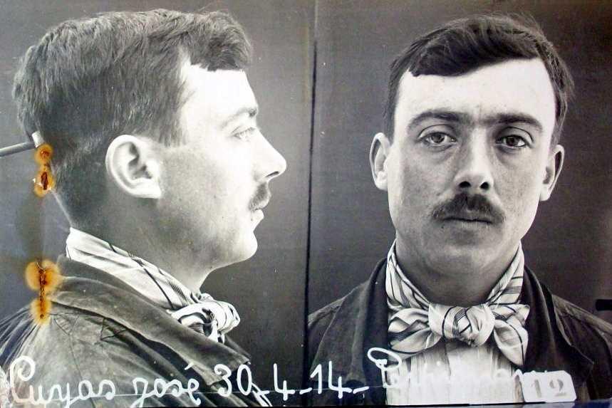 Foto antropomètrica de Josep Cuyàs Alejandro (30 d'abril de 1914)