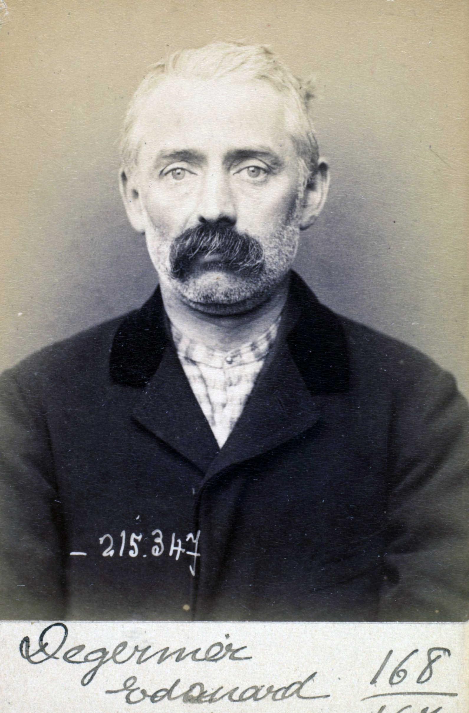 Foto policíaca d'Édouard Degernier (8 de març de 1894)