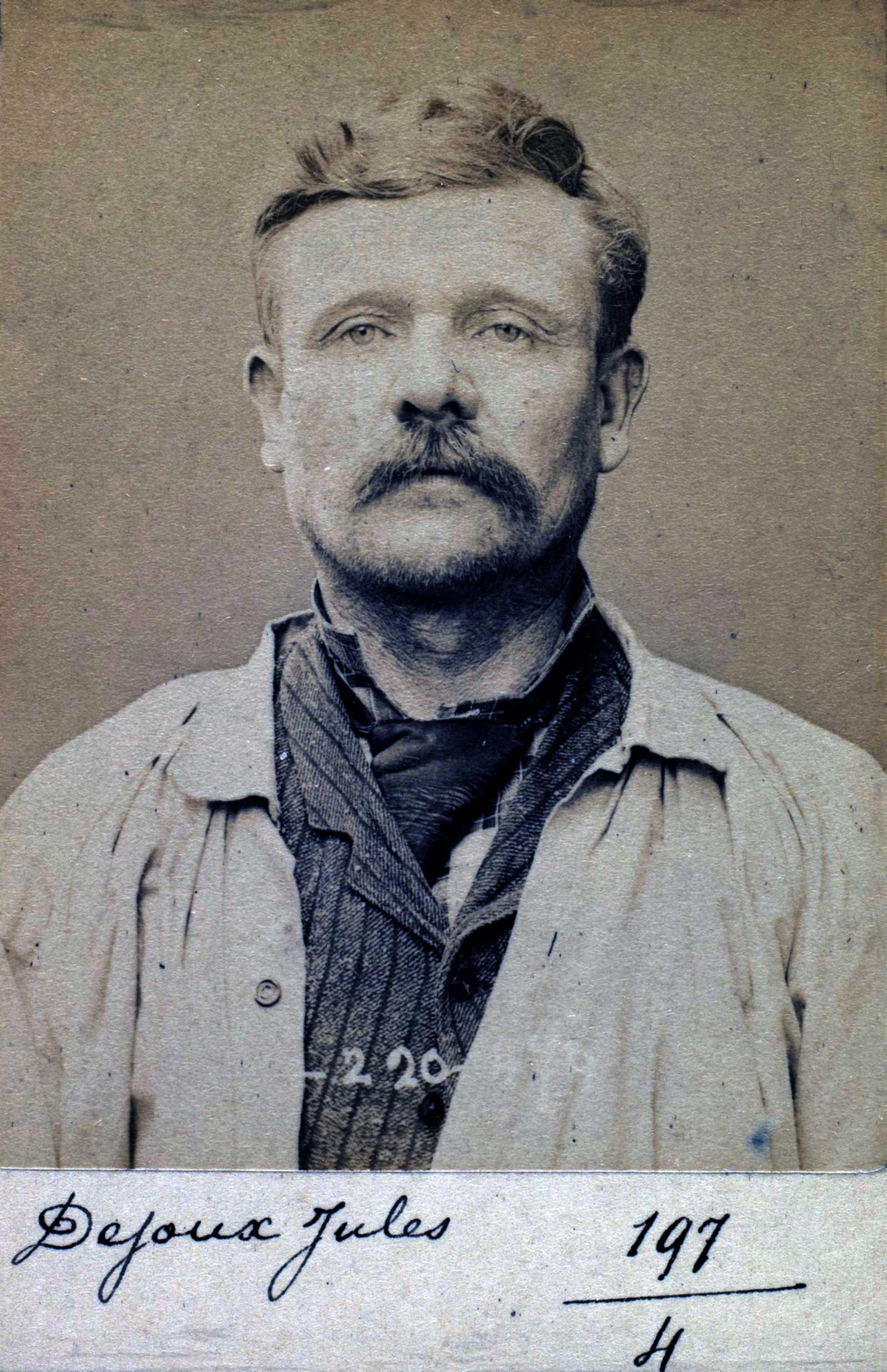 Foto policíaca de Jules Dejoux (2 de juliol de 1894)