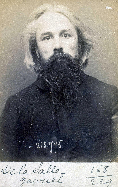 Foto policíaca de Gabriel De La Salle (16 de març de 1894)