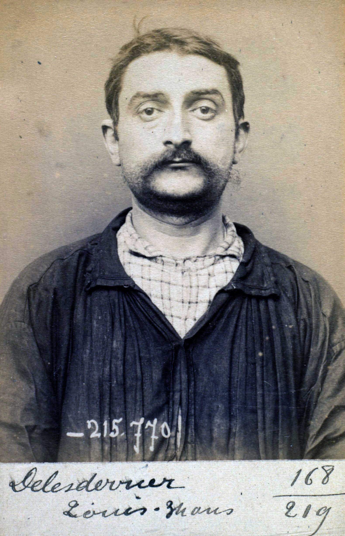 Foto policíaca de Louis Delesderrier (16 de març de 1894)