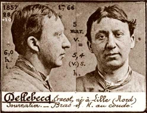 Foto policíaca d'Ernest Dellebecq (ca. 1894)