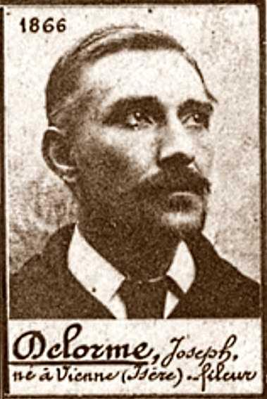 Foto policíaca de Joseph Delorme (ca. 1894)