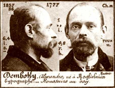 Foto policíaca d'Alexandre Dembsky (ca. 1894)
