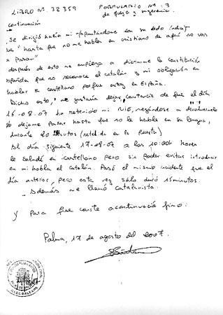 Denúncia de Saïda Saddouki