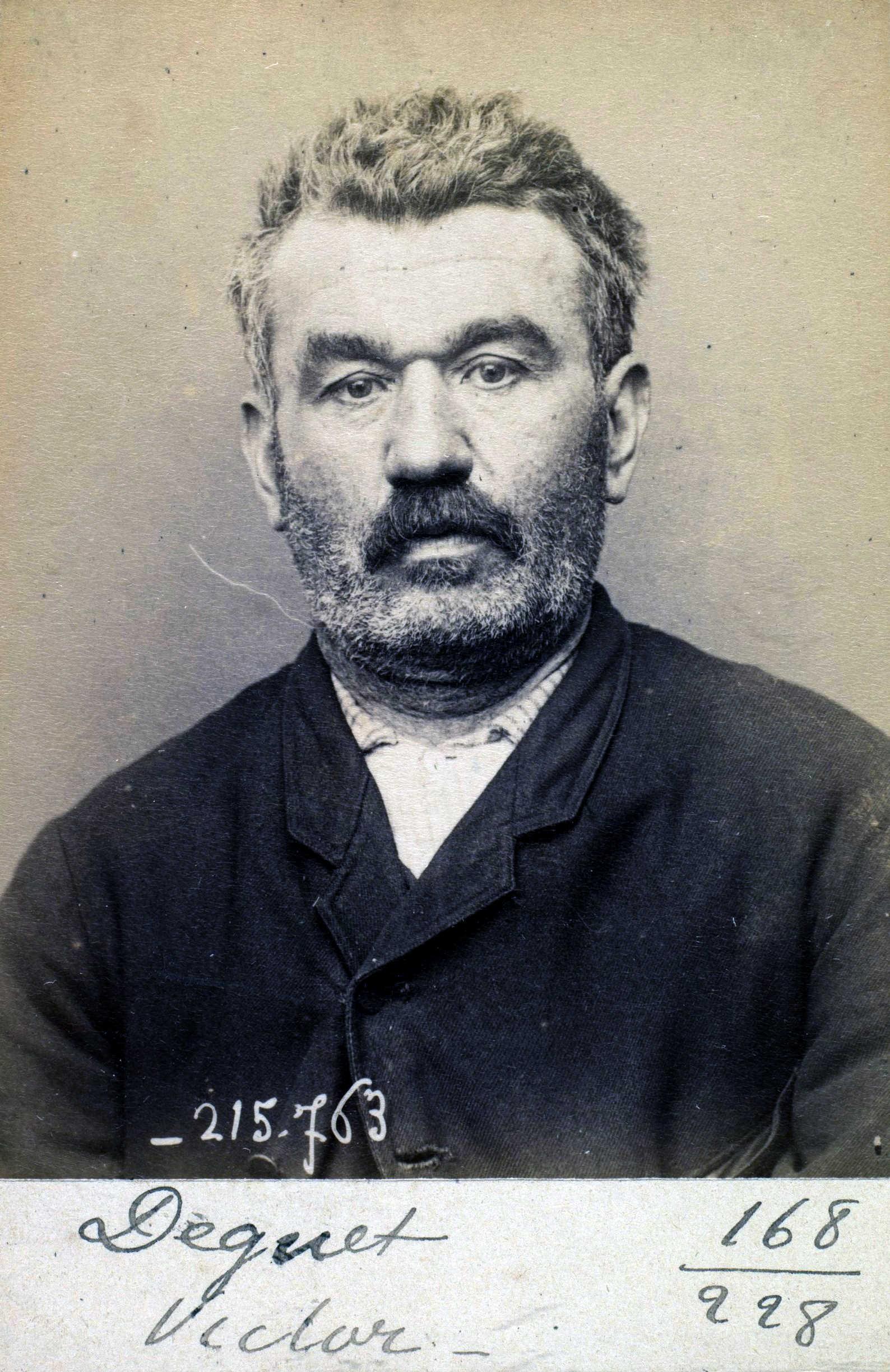 Foto policíaca de Victor Dequet (16 de març de 1894)
