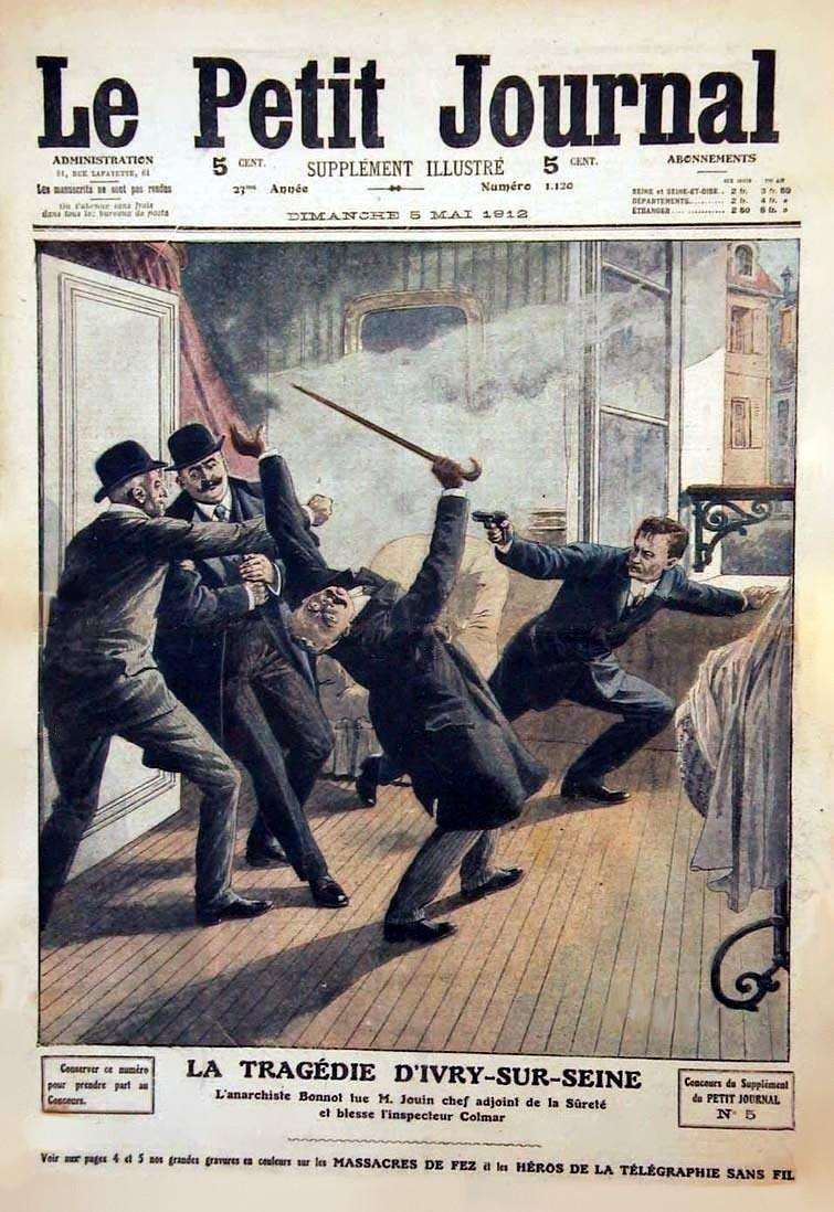 "L'intent de detenció de Bonnot segons ""Le Petit Journal"" del 6 de maig de 1912"