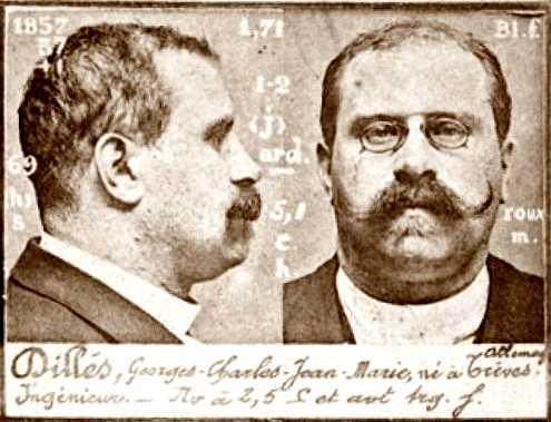 Foto policíaca de Georges Dillès (ca. 1894)