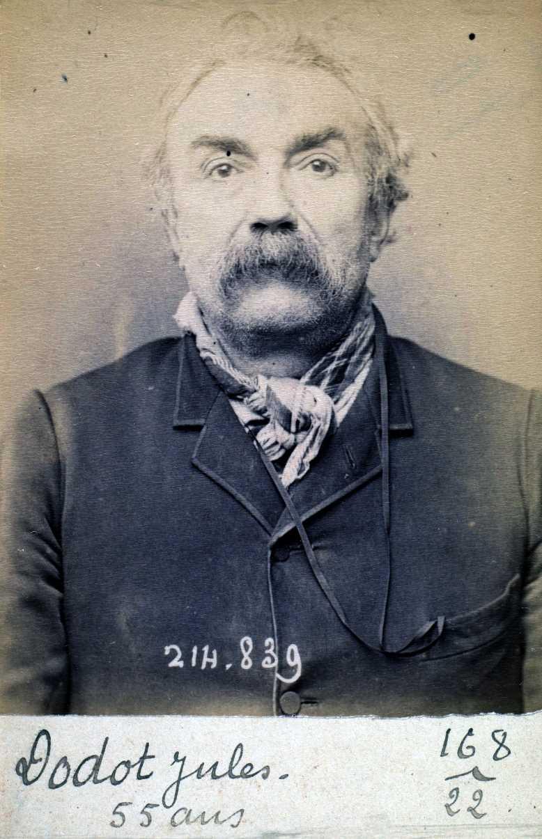 Foto policíaca de Jules Dodot (27 de febrer de 1894)