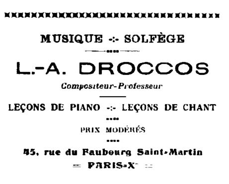 """Propaganda de L. A. Droccos apareguda diversos números del periòdic d'Auxerre """"La Mère Éducatrice"""""""