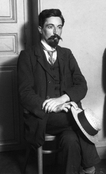 """Jean Dudragne durant el seu segrestament a la seu de """"La Guerre Sociale"""" (8 de juny de 1911)"""
