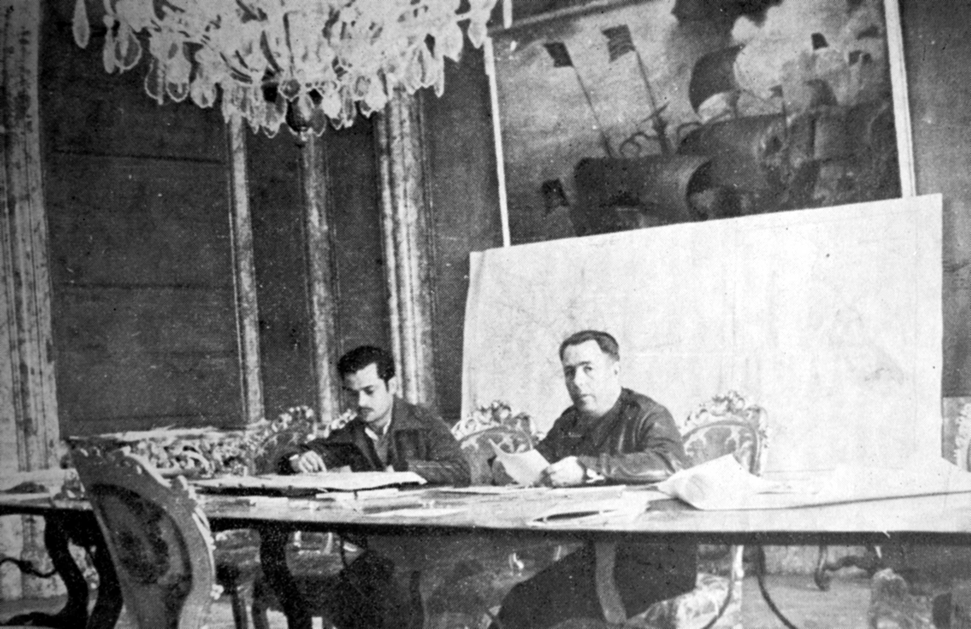"Florencio Edo Isquierdo (esquerra) i Ricard Sanz en el comandament de la ""Columna Durruti"" a Madrid"