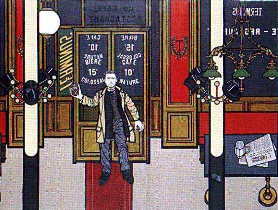 Émile Henry al café Terminus según Flavio Costantini