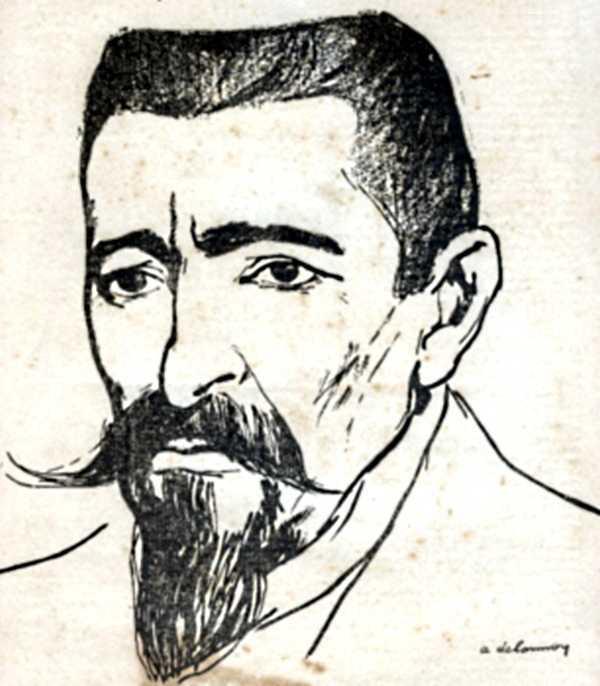 Émile Pouget, dibuixat per Aristide Delannoy (circa 1911)