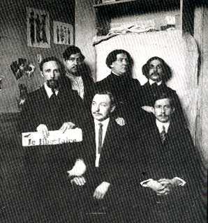 """L'equip de redacció de """"Le Libertaire"""" en 1921"""