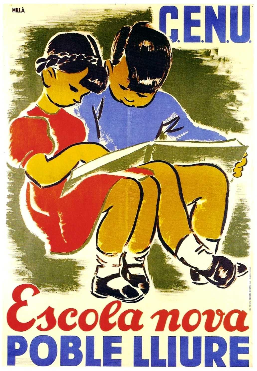 Cartell del CENU, obra de Carme Millà Tersol