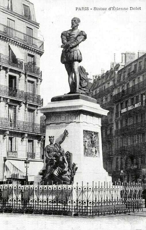 Estàtua d'Étienne Dolet