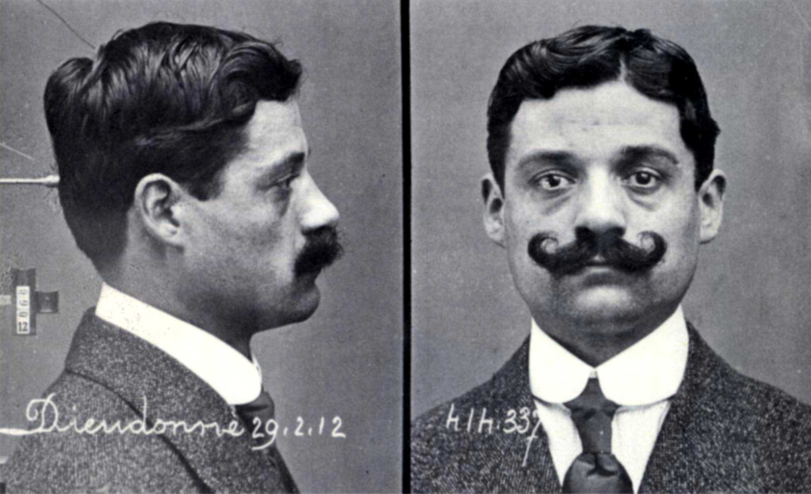 Fitxa policíaca d'Eugène Dieudonné