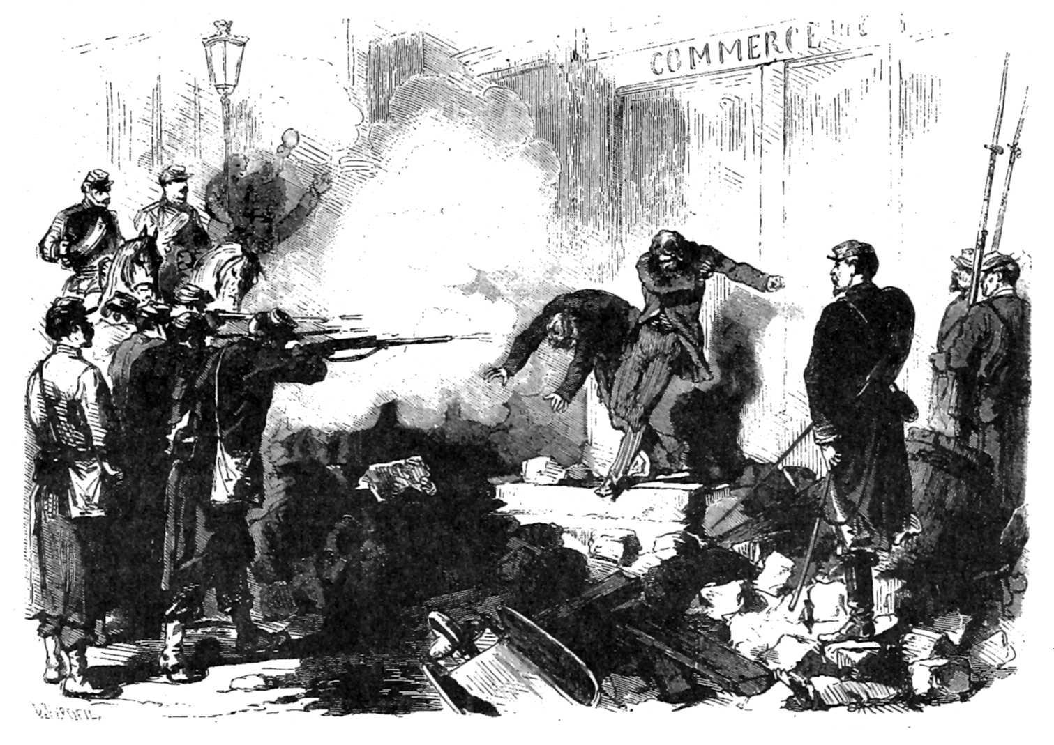 """Execució sumària, el 25 de maig a les 18.30 hores, de """"communards"""" agafats armats al carrer Saint-Germain-l'Auxerrois"""